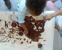 Vamos pintar com chocolate e adoçar o ano novo!